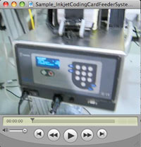 Sample Inkjet Coding Card Feeder System