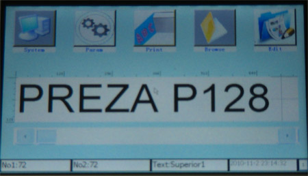 Preza Inkjet Coder with Color Touchscreen – Bottle Coding